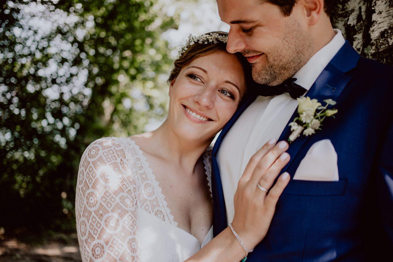 Brautpaarportrait auf einer Hochzeit fotografiert von Chris Hartlmaier Fotodesign